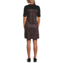 Ditsy Floral Collection: Mini Funfetti Floral Print Short Sleeve Golf Dress