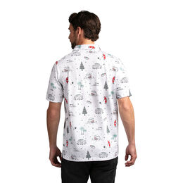 HO19: Tinsel Tradition Printed Polo