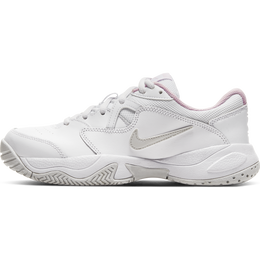 NikeCourt Jr. Lite 2 Kids' Tennis Shoe - White/Pink