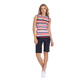 Palm Coast Collection: Sawyer Sleeveless Multi Stripe Mock
