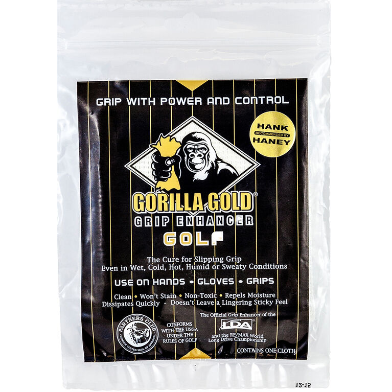 Golf Gifts & Gallery Gorilla Gold Grip Enhancer in package