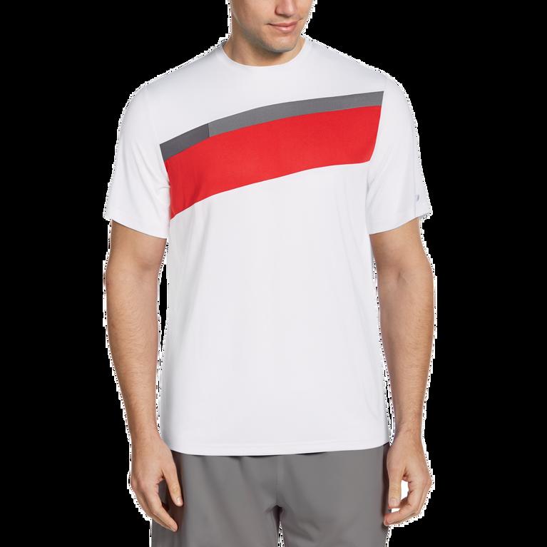 Diagonal Block Stripe Men's Tee Shirt