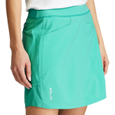Alternate View 3 of Perforated Stretch Solid Golf Skort