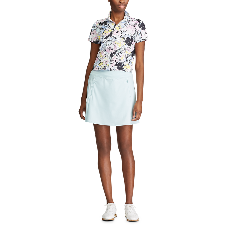 Short Sleeve Floral Print Sustainable Polo Shirt