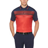 Printed Front Panel Short Sleeve Polo Golf Shirt