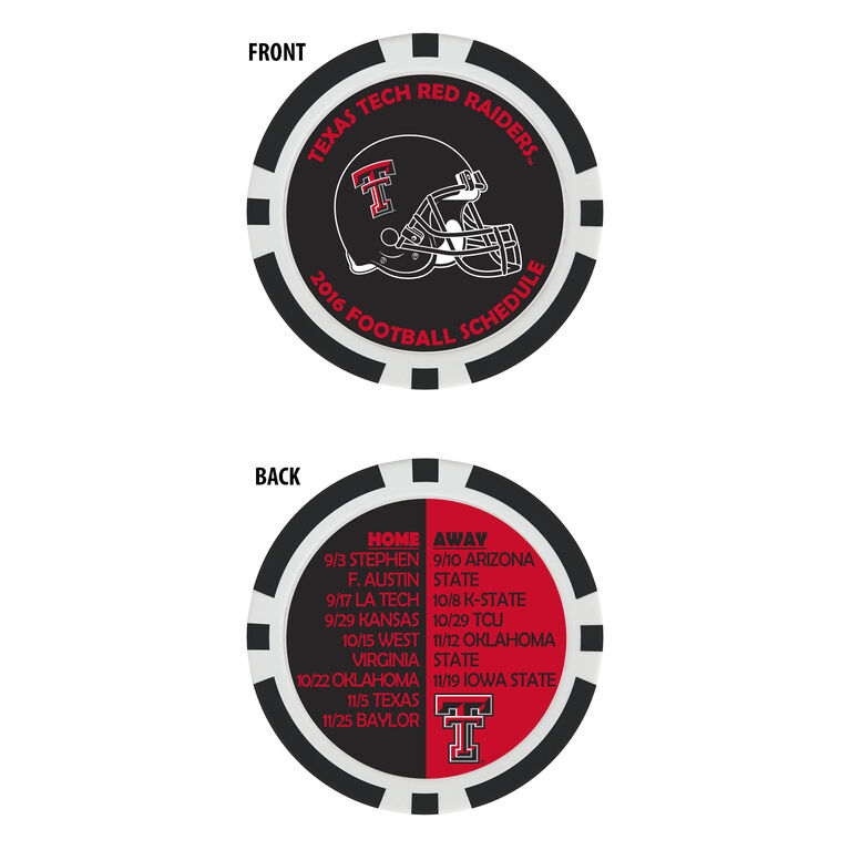 Team Effort Texas Tech Football Schedule Ball Marker