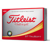 Titleist DT TruSoft Personalized - White