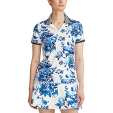 Alternate View 3 of Porcelain Floral Print Short Sleeve Polo