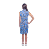 Alternate View 3 of Mystic Sleeveless Hibiscus Print Scallop Dress