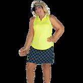 Alternate View 1 of Limonata Collection: Striped Collar Sleeveless Polo Shirt
