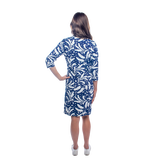 Alternate View 3 of Doral 3/4 Sleeve Leaf Print Dress