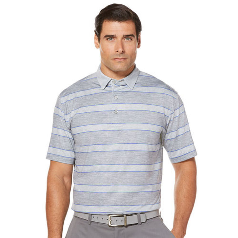 83fa09eea Images. Callaway Men's Opti-Dri Heathered Rugby Stripe Short Sleeve Polo