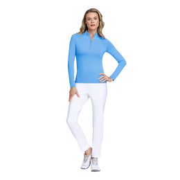 Fun in the Sun Collection: Amelia Long Sleeve Solid Quarter Zip