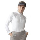 Monochrome Check Collection: Linnea Long Sleeve Polo Shirt