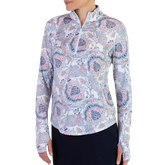 Dixie Group: Long Sleeve UV Mock Quarter Zip - Dixie Print