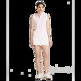 Alternate View 1 of Sleeveless Mesh Striped Quarter-Zip Polo Shirt