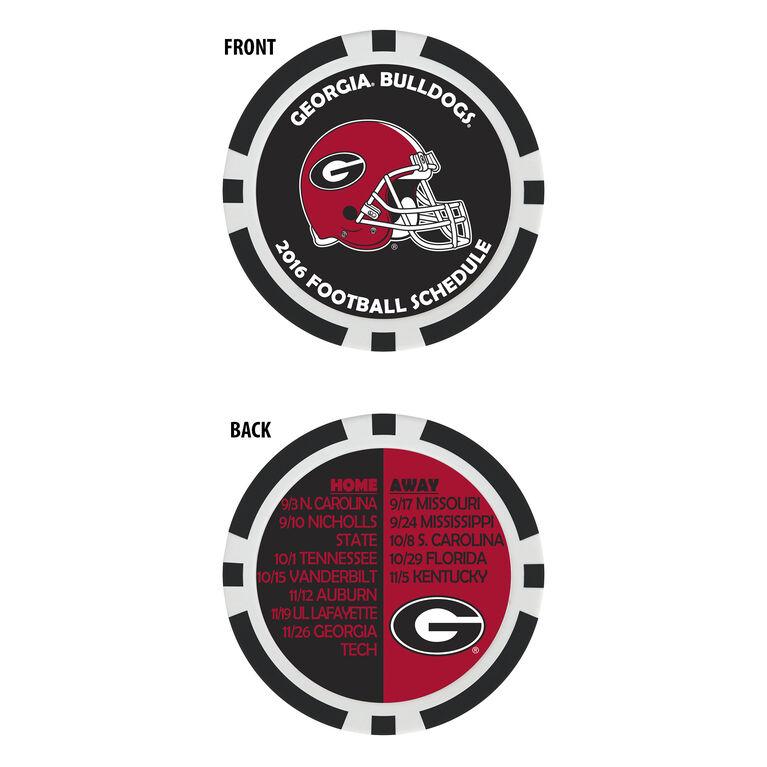Team Effort Georgia Football Schedule Ball Marker