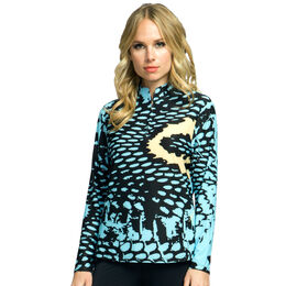 Jamie Sadock Sunsense 1/4 Zip Pull Over Print