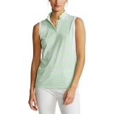 Alternate View 1 of Striped Sleeveless Quarter-Zip Polo Shirt