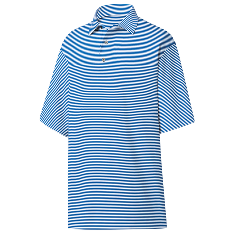 FootJoy Lisle Feeder Stripe Self Collar Polo