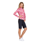 Alternate View 2 of Fun the Sun Collection: Floral Print Quarter Zip Pull Over