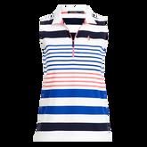 Alternate View 4 of Striped Sleeveless Quarter-Zip Golf Polo