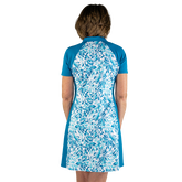 Alternate View 5 of Ocean Breeze Collection: Floral Print Short Sleeve Dress