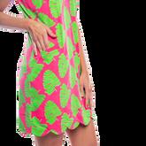 Alternate View 2 of Mystic Sleeveless Palm Print Scallop Dress
