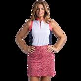 Huntington Collection: Bess Sleeveless Colorblock Polo Shirt