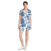 Alternate View 1 of Porcelain Floral Print Short Sleeve Polo