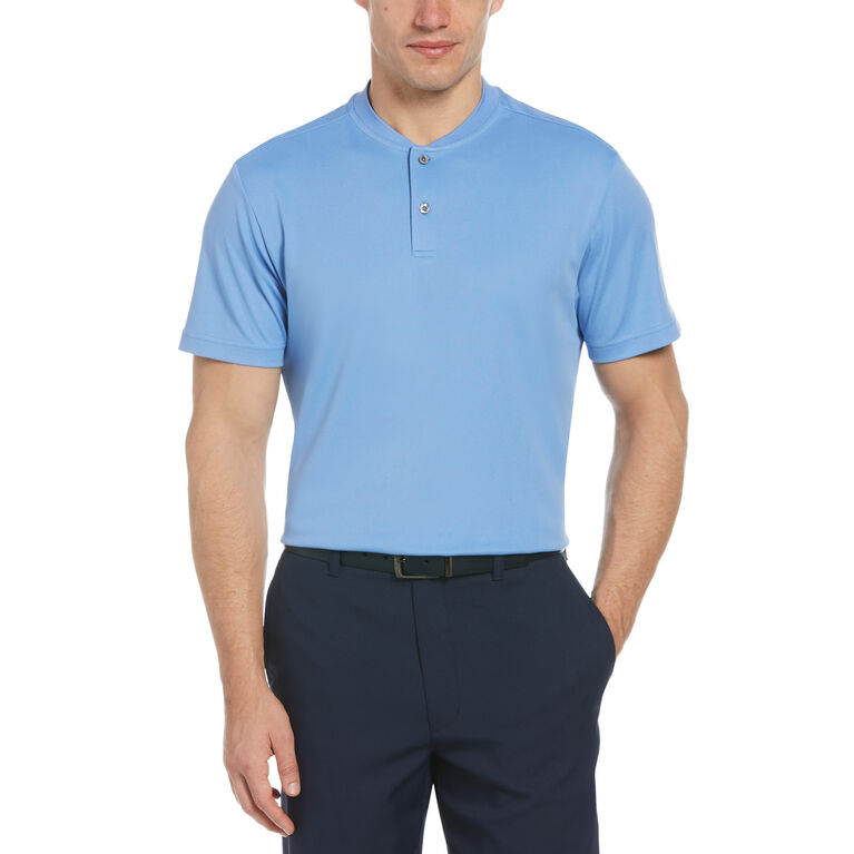 Pique Short Sleeve Polo with New Casual Collar