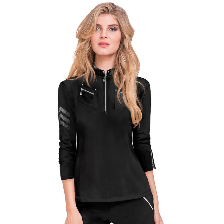 Voltage Collection: 3/4 Sleeve Quarter Zip Pull Over