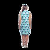 Alternate View 3 of Mystic Sleeveless Coral Print Scallop Dress