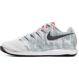NikeCourt Air Zoom Vapor X Women's Tennis Shoe - Grey/Red