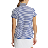 Alternate View 4 of Short Sleeve Striped Piqué Polo Shirt