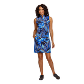 Alternate View 2 of Palm Springs Collection: Danville Frayed Front Print Sleeveless Dress