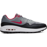 Air Max 1 G Men's Golf Shoe - Grey/Red