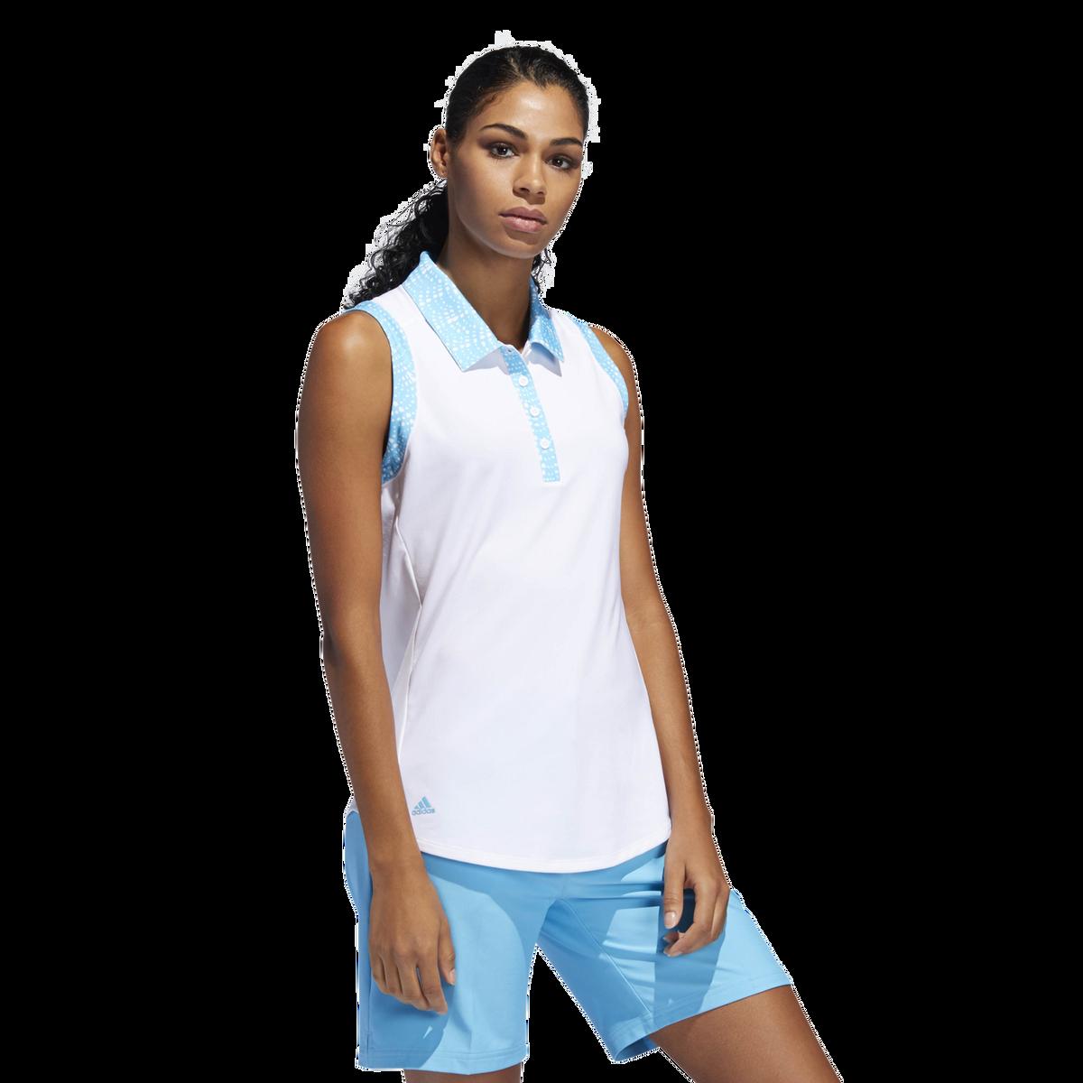 0f61b082 Adidas Ultimate365 Printed Sleeveless Polo Shirt | PGA TOUR Superstore