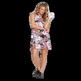 Alternate View 2 of Summer Sensation Collection: Robbie Leaf Print Pleated Hem Dress