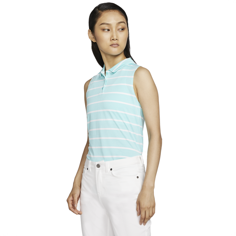 Dri-FIT Women's Sleeveless Striped Golf Polo