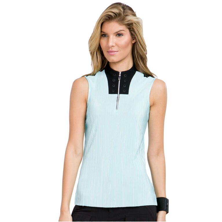 Pacifica Group: Sleeveless Crunch Quarter Zip Polo