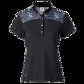 Sigrid Mesh Yoke Short Sleeve Polo Shirt