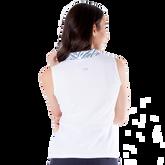 Alternate View 6 of Sportif Collection: Zebra Collar Sleeveless Polo Shirt