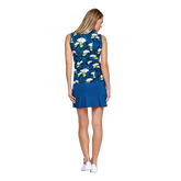 Alternate View 2 of Tranquil Bay Collection: Lily Print Sleeveless Golf Top