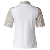 Alternate View 2 of Almond Collection: Daphie White Polo Shirt