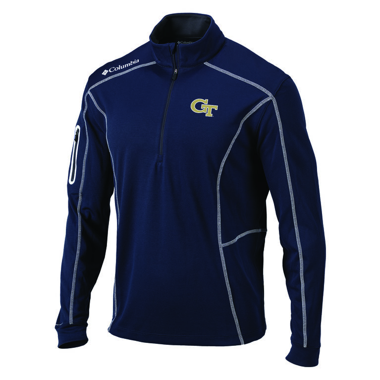 Columbia Georgia Tech Shotgun Golf 1/4 Zip