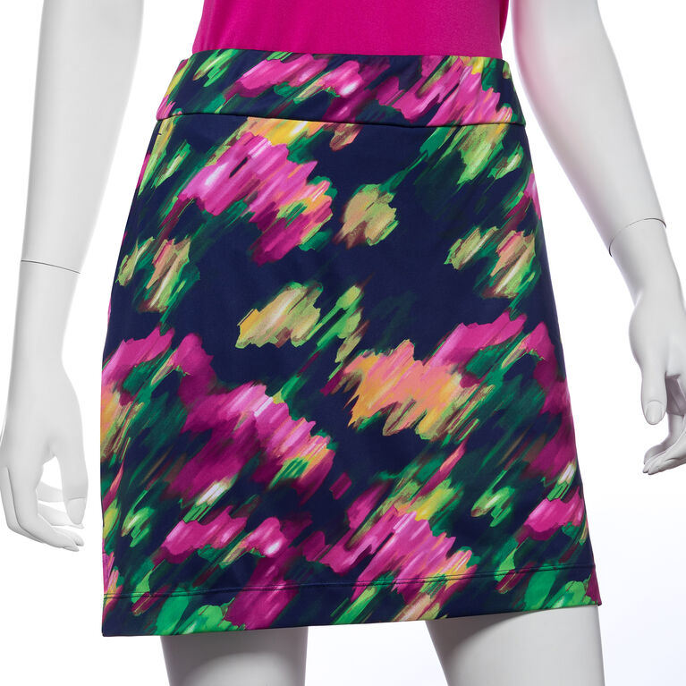 Treasure Island Group: Modern Watercolor Floral Print Skort
