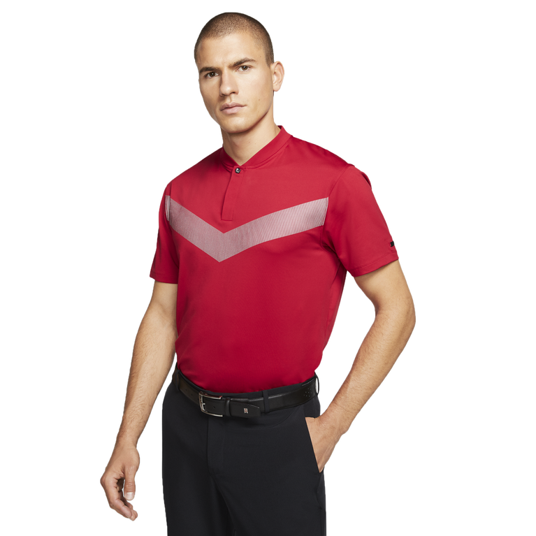 Dri-FIT Tiger Woods Vapor Reflective Blade V Front Golf Polo
