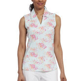 Pink Glo Group: Sleeveless Floral Polo