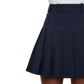 Alternate View 4 of Adina Solid Pleat Micro Stretch Skirt